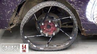 Making a wheel on gas struts