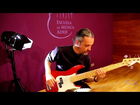Javier Martín . Profesor de bajo de la Escuela de Música de Adeje