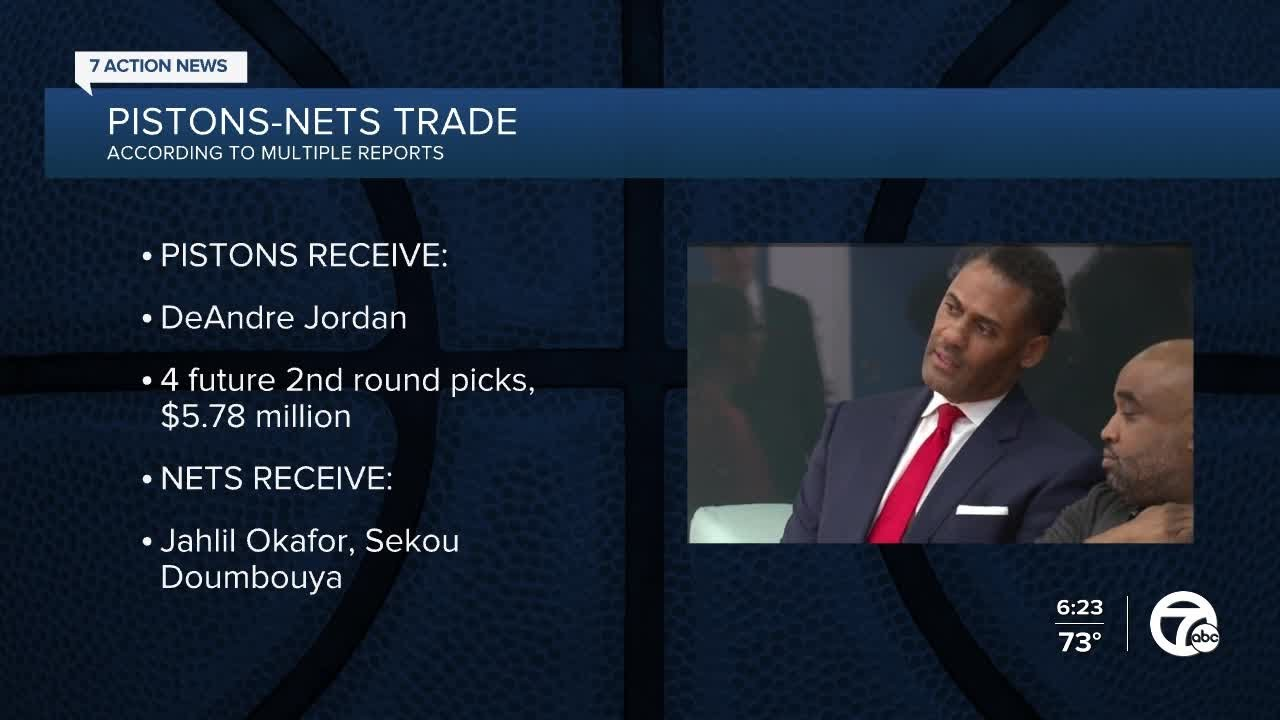 Reports: Nets trade DeAndre Jordan to Pistons, center to sign with ...