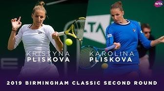 Kristyna Pliskova vs. Karolina Pliskova | 2019 Birmingham Classic Second Round | WTA Highlights