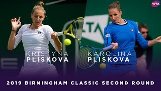 Kristyna Pliskova vs. Karolina Pliskova   2019 Birmingham Classic Second Round