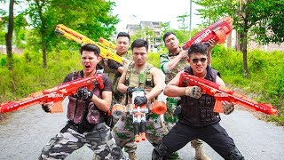 LTT Game Nerf War : TEAM Winter Warriors SEAL X Nerf Guns Criminal Group
