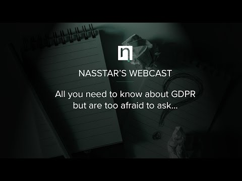 Nasstar's Webcast - General Data Protection Regulation (GDPR) in the legal sector