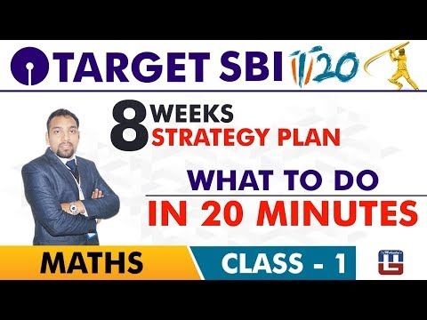 SBI Clerk Prelims 2018 | What To Do In 20 Minutes | Maths Live At 10 am | Class-1
