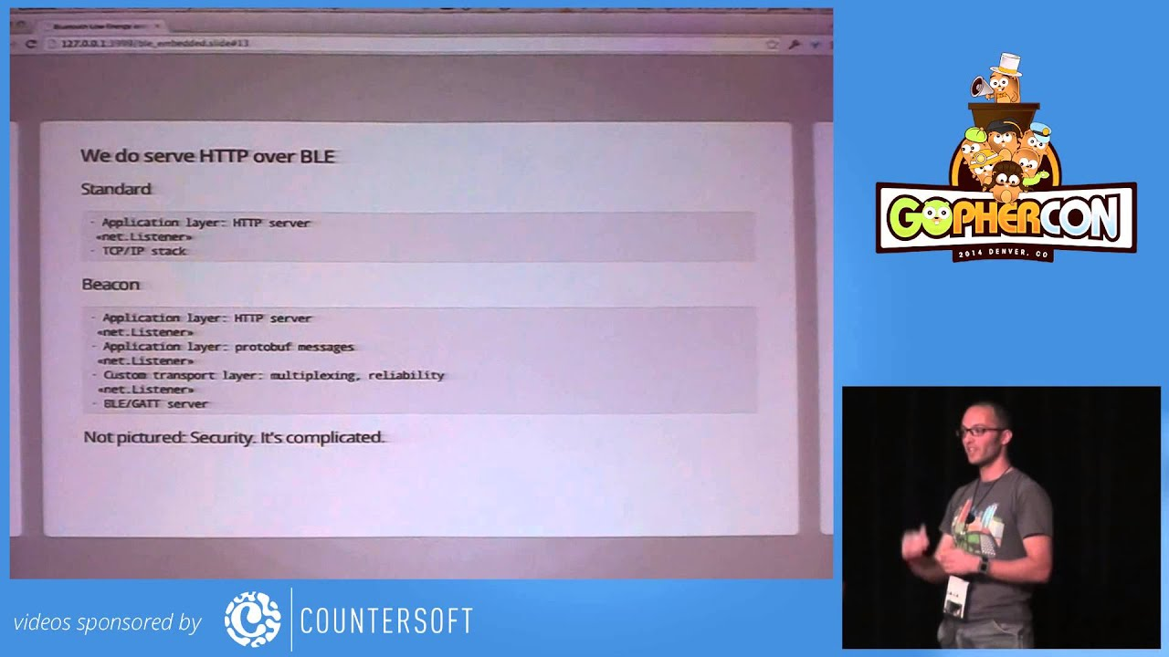 GopherCon 2014 Embedded Go and Bluetooth Low Energy Hardware by Josh  Bleecher Snyder