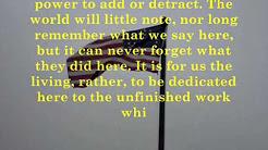 The Gettysburg Address - Abraham Lincoln 1863