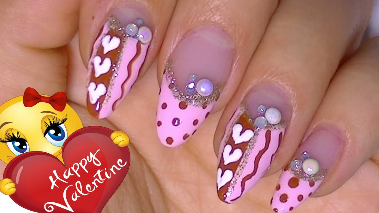 Valentine s day nail art design 2015 youtube prinsesfo Gallery