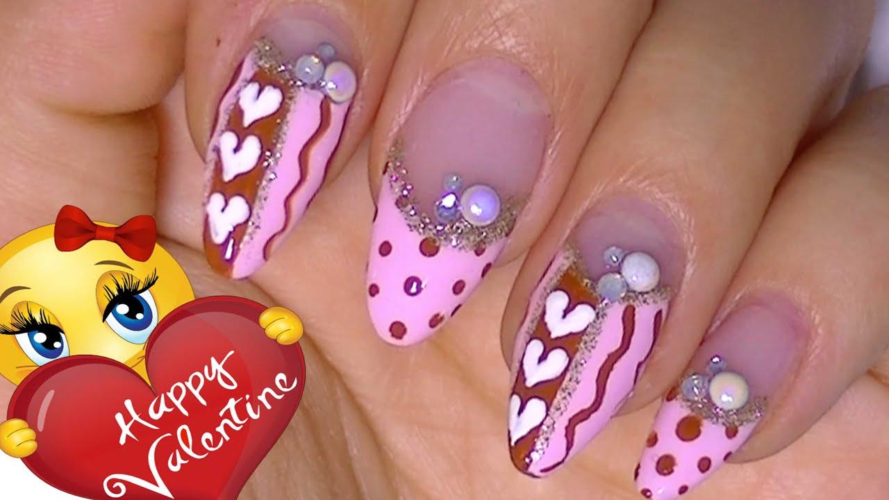 Valentine `s Day Nail Art Design 2015 - YouTube