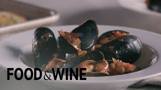Steamed Mussels with Tomato and Garlic Broth | Recipe | Food & Wine