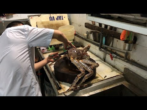 THE BIGGEST ALASKAN KING CRAB Ever Cooked In Vietnam - Seafood Street Food In Vietnam