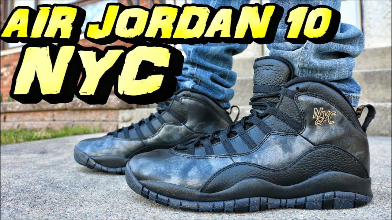 4fd5987e40e521 Air Jordan 10 NYC - Review + On Foot - YouTube