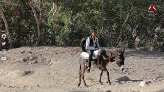 أطفال الحجرية ... بين حب التعليم ومشقة الوصول إلى المدارس