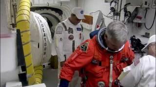 STS-134 Crew Ingress