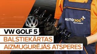 aizmugurē un priekšā Piekare montāža VW GOLF: video pamācības