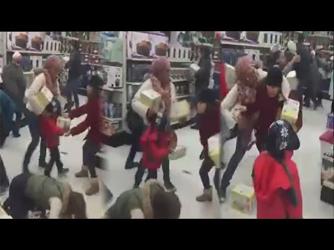 Black Friday Shopper Snatch Merchandise From Kid's Hand