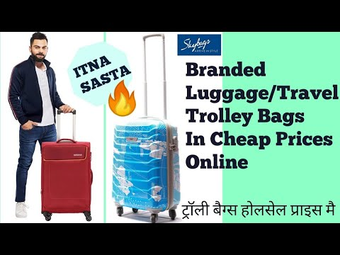 Best Trolley Bags For Travel//Skybags and American Tourister Trolley Bags From #AmazonShopping