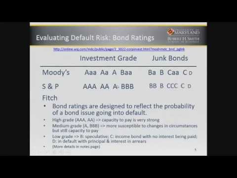 Bonds Default Risk and Credit Ratings