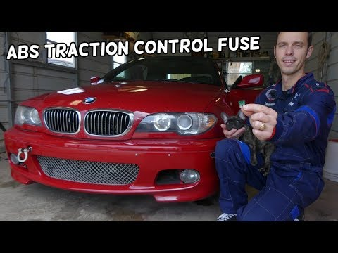 ABS FUSE TRACTION CONTROL FUSE LOCATION REPLACEMENT BMW E46 316I