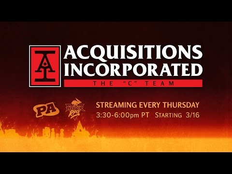 "NEW ACQUISITIONS INCORPORATED SHOW!  | Q&A with Jerry Holkins and the Cast of The ""C"" Team"