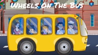 wheels on the bus go round and round   rhymes for kids   by laa laa tv