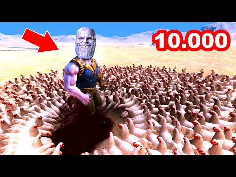 10.000 TAVUK VS 1 THANOS 😱 - Süper Kahramanlar