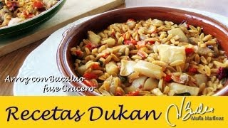 Dieta Dukan: Arroz Ciao Carb con bacalao (Crucero) / Dukan Cod Fish with Rice (Cruise)