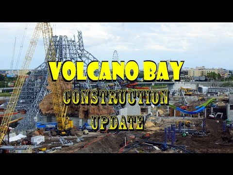 Universal Orlando Resort Voclano Bay Construction Update 7.25.16  WATER COASTER RISES + TONS MORE!!!