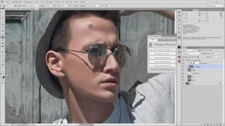 Photoshop. Обработка мужского портрета с использованием панели для ретуши. (Евгений Карташов)