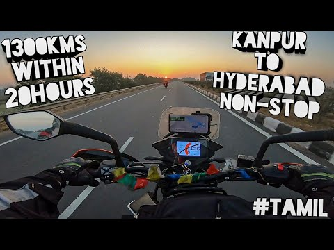 Kanpur To Hyderabad Within 20hours | NON-STOP in Adventure 390 தமிழில்