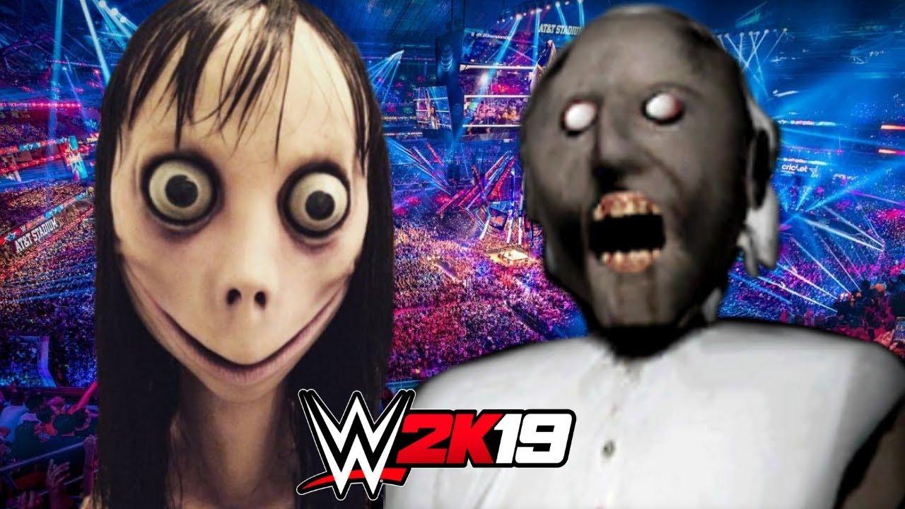 MOMO vs GRANNY   WWE 2K19 Gameplay - YouTube