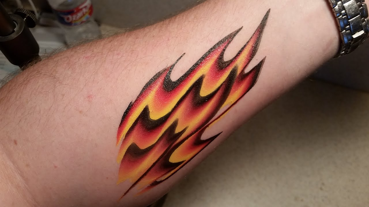 One Stroke Flame Design Arm Or Face Painting Tutorial
