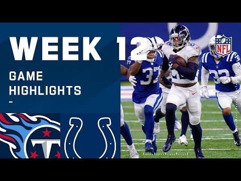 Titans vs. Colts Week 12 Highlights   NFL 2020