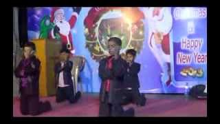 christmas song---school childrens ..P.P.G. CHURCH .....Rajavee nagar, vijayawada. INDIA.