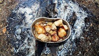 Полевая кухня САЛО с кашей (Outdoor kitchen FAT porridge)(Очередной выпуск с готовкой на природе!!!Готовим на костре!!! Передаю приветы друзьям и подписчикам. Видео..., 2016-04-18T17:37:06.000Z)
