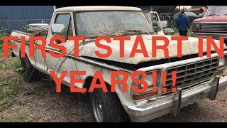 FIRST START IN YEARS, 1979 Ford F-150