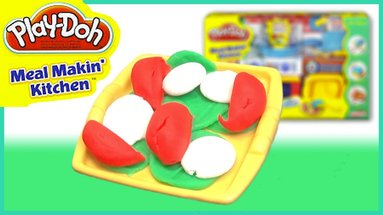 Play Doh Meal Makin Kitchen Set Vegetable Salad Youtube