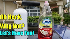 Dawn Dish Soap in a Foam Cannon! Will it Foam?