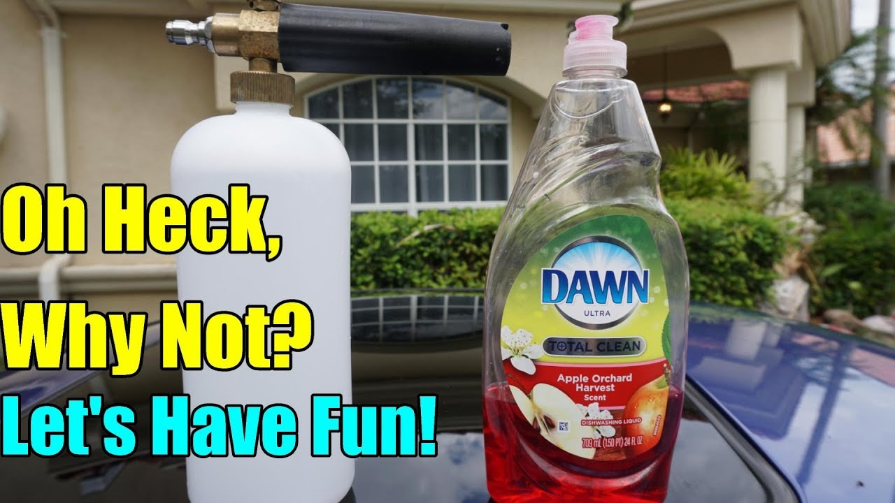 Foam Cannon Soap >> Dawn Dish Soap In A Foam Cannon Will It Foam Youtube