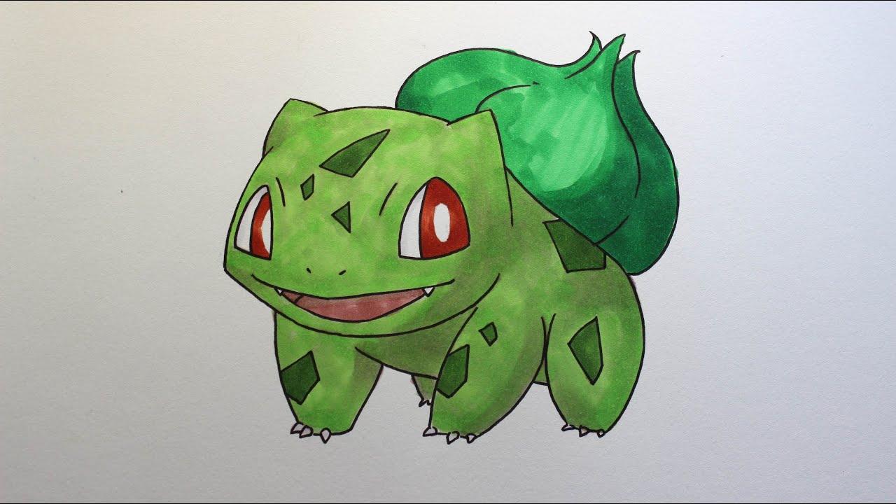 Wie zeichnet man Bisasam [Pokemon] zeichen tutorial - YouTube