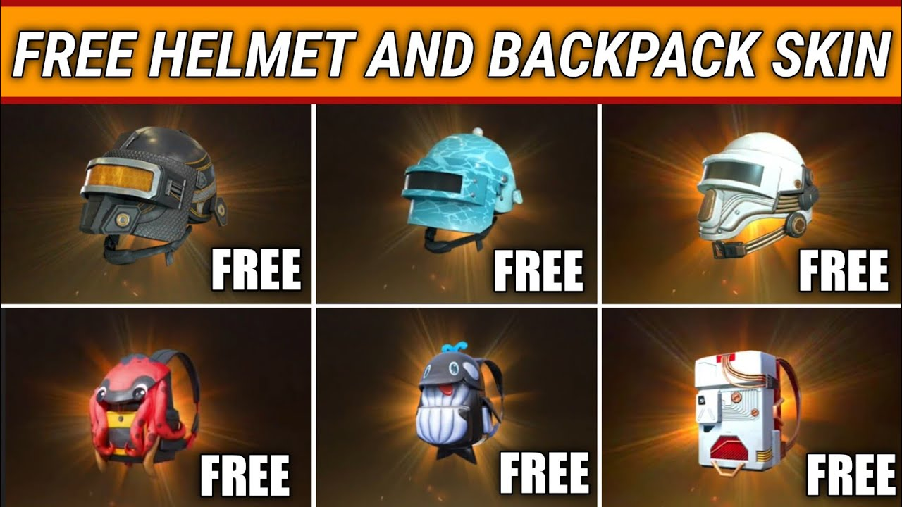 How To Get Free Helmet And Backpack Skin In Pubg Mobile Free Helmet Skin Pubg