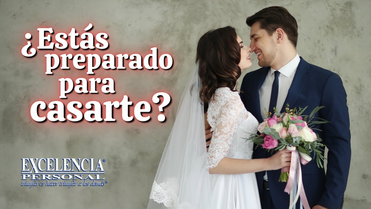 Are you ready to get married? / ¿Estás preparado para casarte?