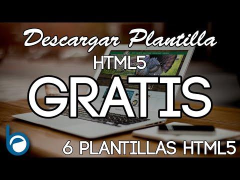 PLANTILLAS HTML5 GRATIS para Descargar y editar