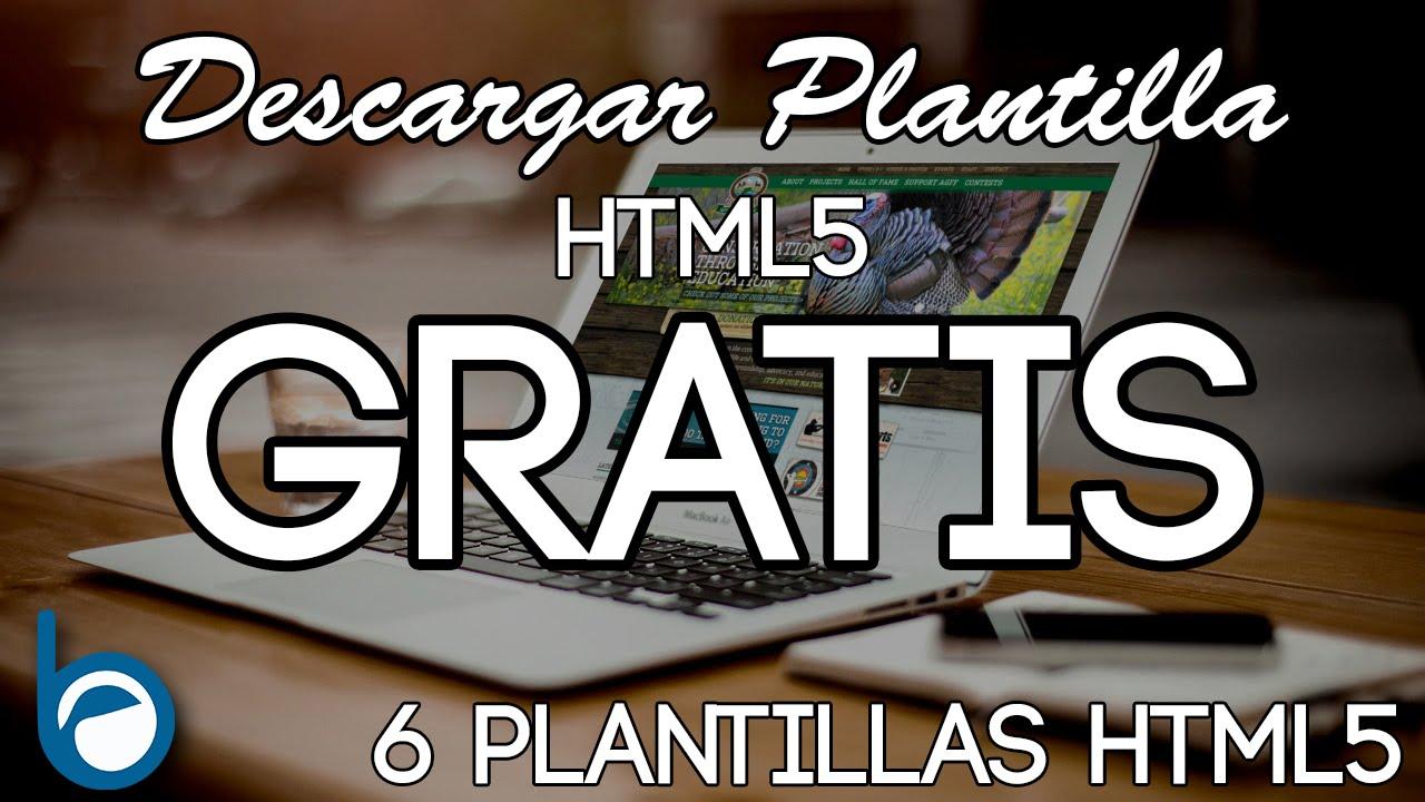 6 PLANTILLAS HTML5 GRATIS para Descargar y editar - YouTube