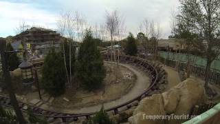 Snow White Seven Dwarfs Mine Train Roller Coaster Ride Over The Wall Update - 01/13/14