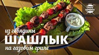 Шашлык из говядины на гриле (рецепт для газового гриля)