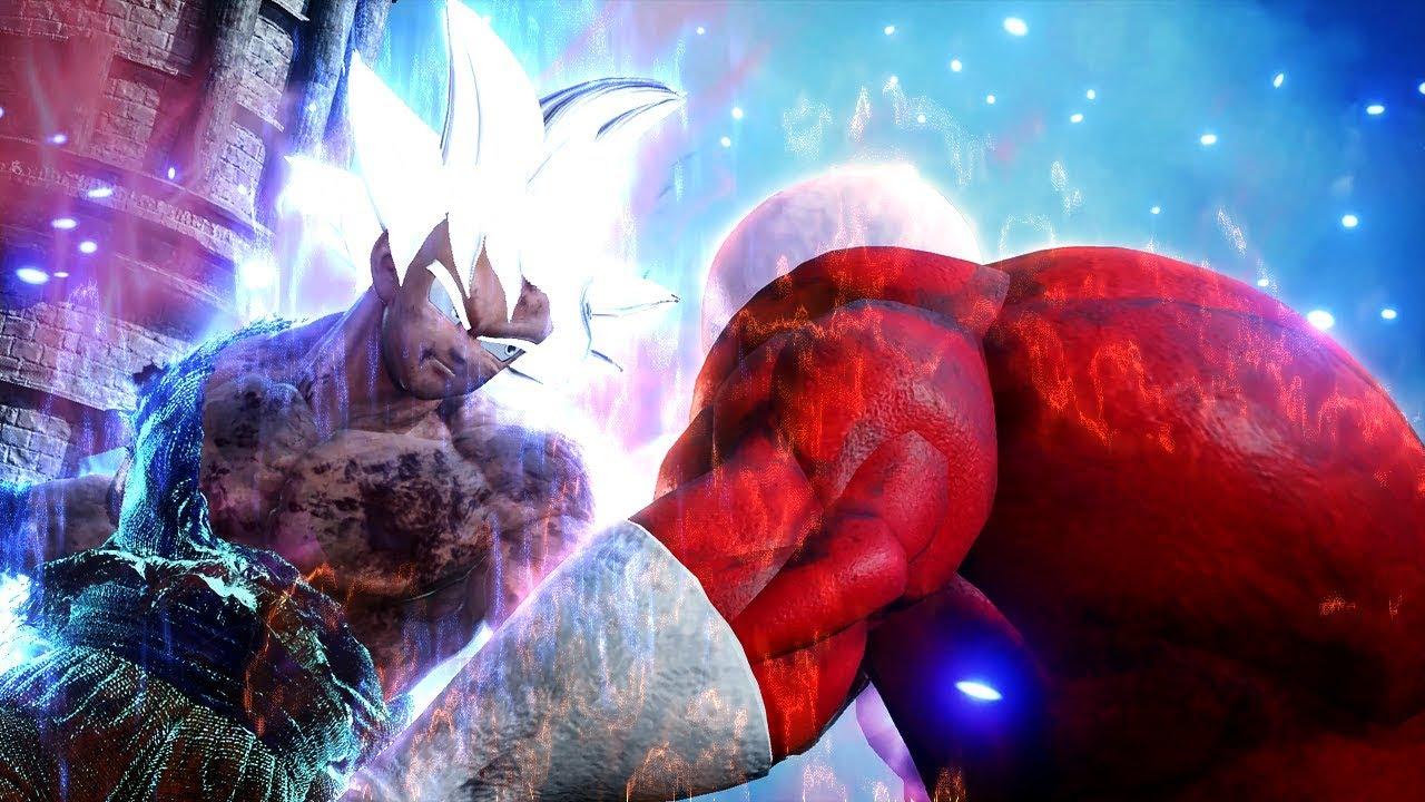 JUMP FORCE - Jiren vs Ultra Instinct Goku 1vs1 Gameplay (MOD)