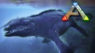 Taming & Surviving a HUGE Mosasaur!! - Ark Survival || Ep22