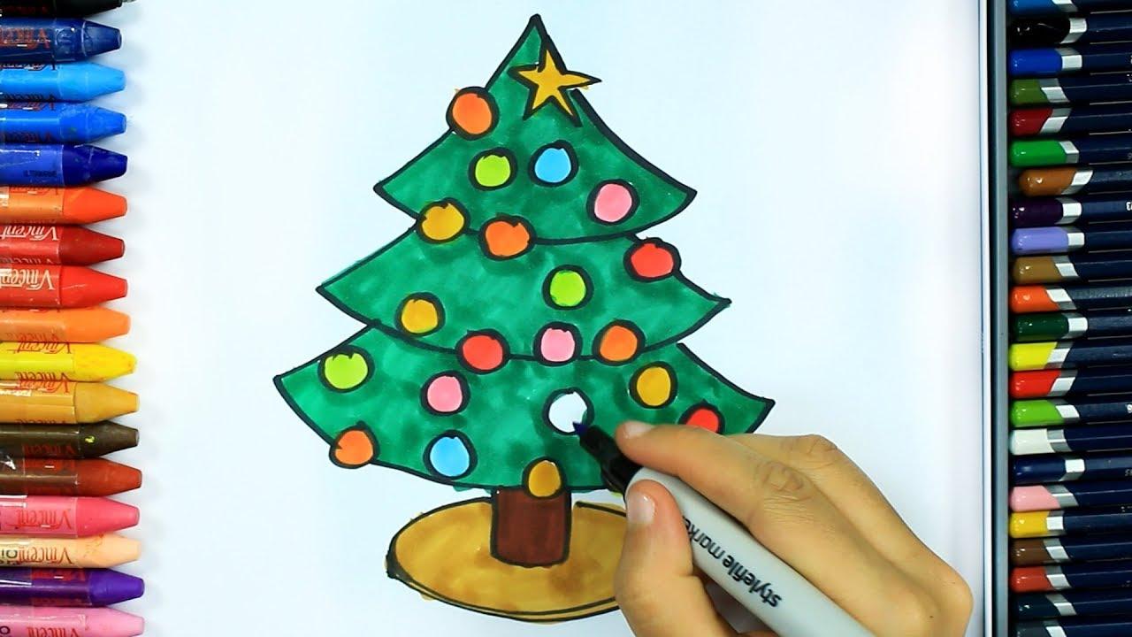 Yılbaşı Ağacı Nasıl çizilir Boya Boya çizelim Boyayalım