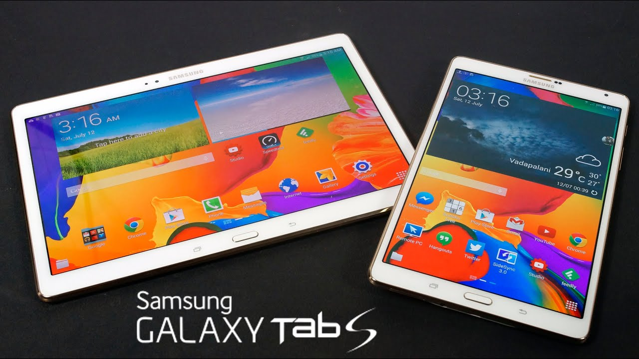 Galaxy Tab S 8.4 & 10.5 Hands On & First Impressions (6 ...