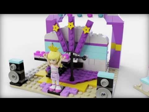 Lego Friends | 41004 | Rehearsal Stage | Lego 3D Review - YouTube
